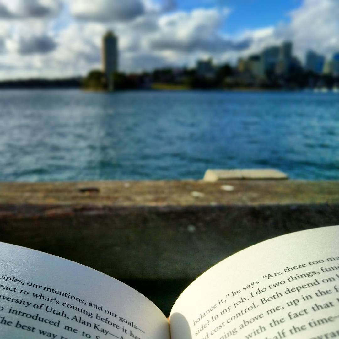 I love reading by the water's edge, so relaxing