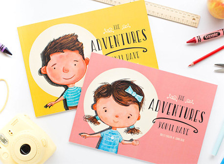 Personalised books for babies and kids (Hippo Blue - The Adventures You'll Have)