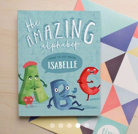 Personalised books for babies and kids (Tinyme - The Amazing Alphabet)