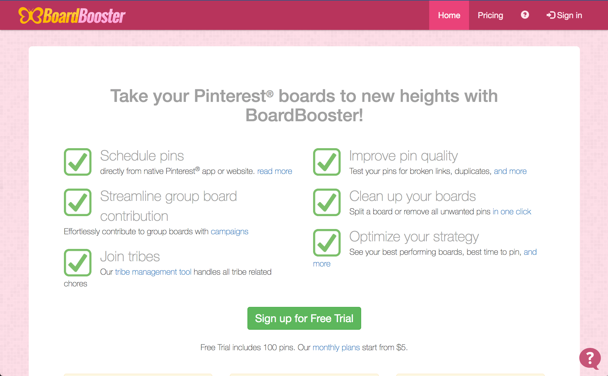 BoardBooster screenshot